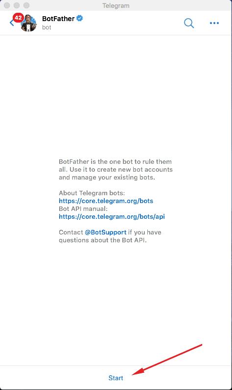 telegram start conversation