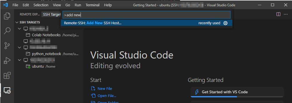 vsc add new host