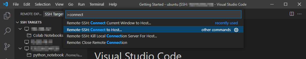 vsc connect remote ssh
