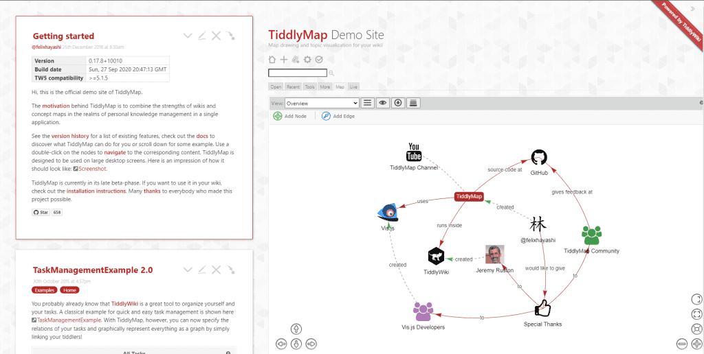 note taking review tiddlywiki screenshot